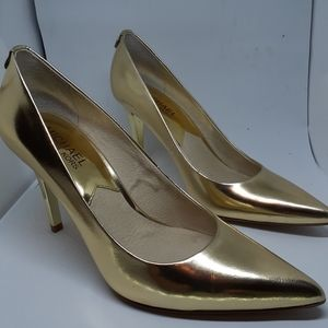 Michael Kors Elisa Metallic Leather Pump Size 6